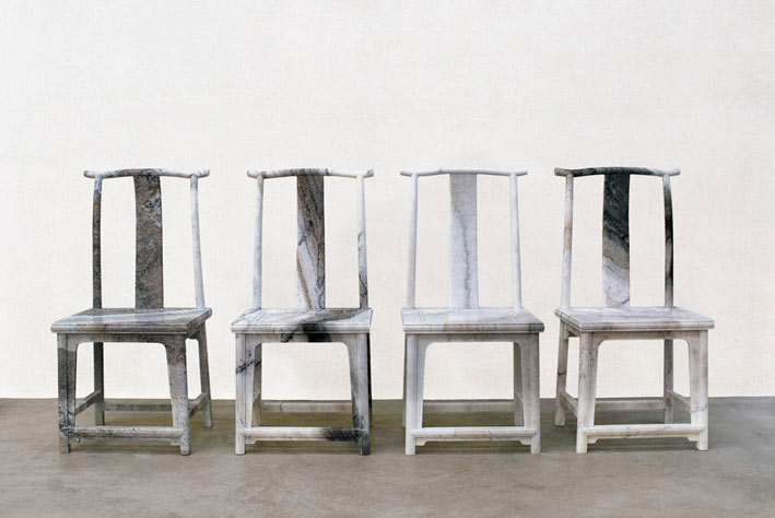Delightful »Marble Chair«, 2008,