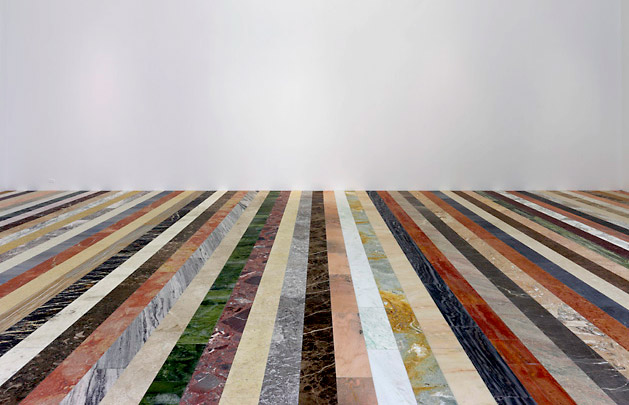 Work No. 1051, 2010 by Martin Creed. Marble.