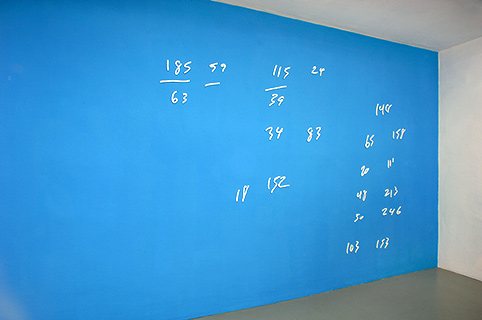 Blue Wall Paint vvork